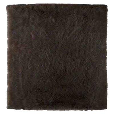 Samantha Faux Sheepskin Brown Area Rug Rug Size: 110 x 210