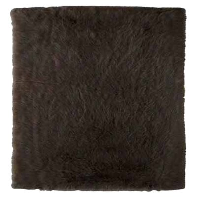 Samantha Hand-Tufted Faux Sheepskin Brown Area Rug Rug Size: Rectangle 5 x 7