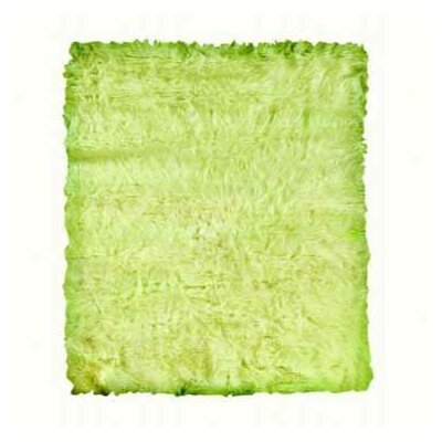 Samantha Faux Sheepskin Green Area Rug Rug Size: 110 x 210