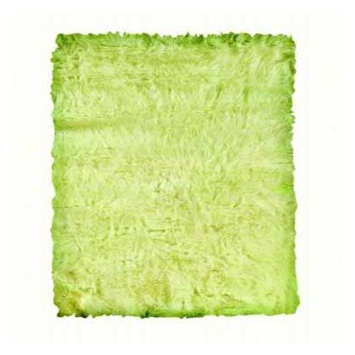 Samantha Faux Sheepskin Green Area Rug Rug Size: 5 x 7