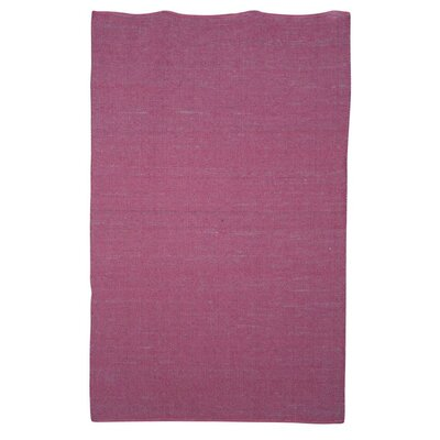 Newburgh Hand-Woven Pink Area Rug Rug Size: Rectangle 53 x 76