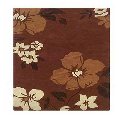Constance Hand-Tufted Rust/Pumpkin Area Rug Rug Size: Rectangle 5 x 7