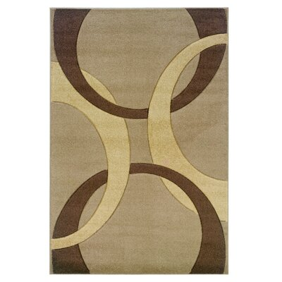 Beige/Brown Area Rug Rug Size: Rectangle 110 x 210