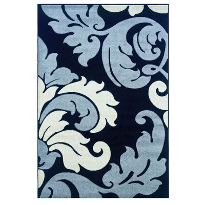 Blue Area Rug Rug Size: Rectangle 110 x 210