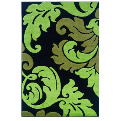 Black/Green Area Rug Rug Size: 8 x 103