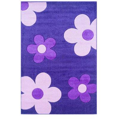 Purple/Ivory Area Rug Rug Size: 3 x 5