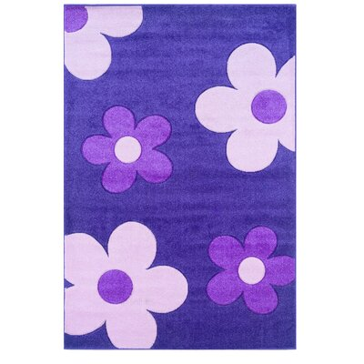 Purple/Ivory Area Rug Rug Size: 110 x 210
