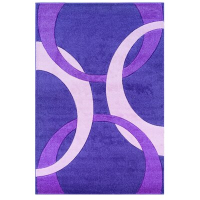 Purple Area Rug Rug Size: Rectangle 5 x 77