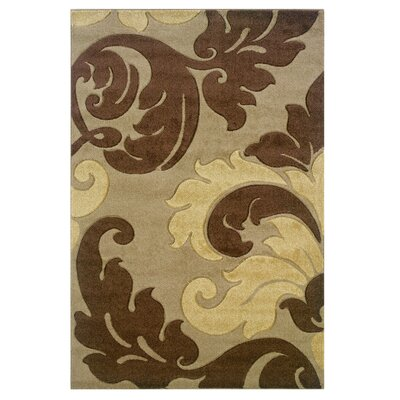 Beige Area Rug Rug Size: Rectangle 5 x 77