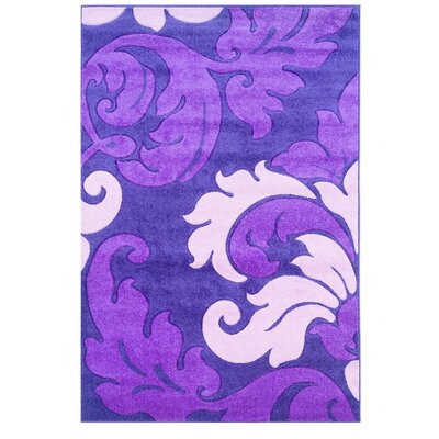 Purple Area Rug Rug Size: Rectangle 110 x 210