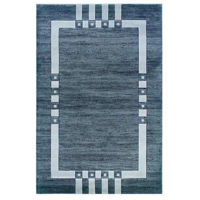 Lusambo Grey/Black Area Rug Rug Size: 1'10