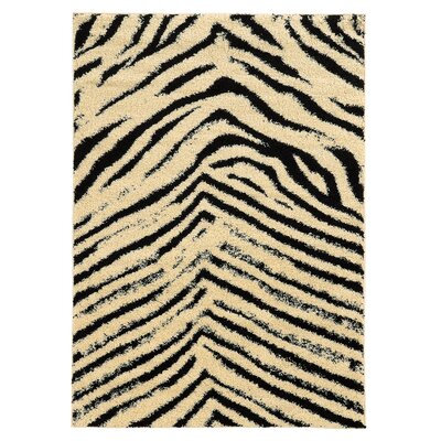 Westland Ivory/Black Area Rug Rug Size: Rectangle 8 x 10