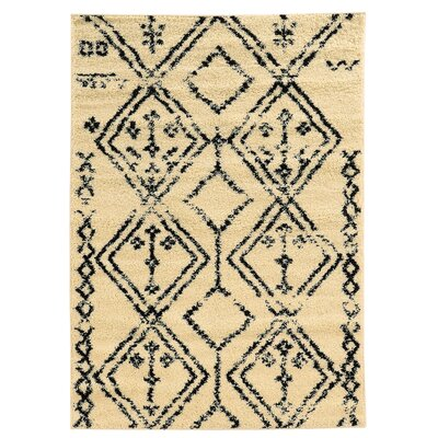 Westland Ivory/Black Indoor/Outdoor Area Rug Rug Size: Rectangle 5 x 7