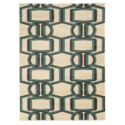 Danby Grey/Turquoise Area Rug Rug Size: Rectangle 8 x 10