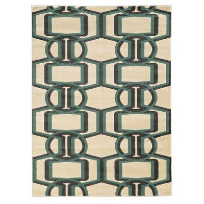 Danby Grey/Turquoise Area Rug Rug Size: 2 x 3