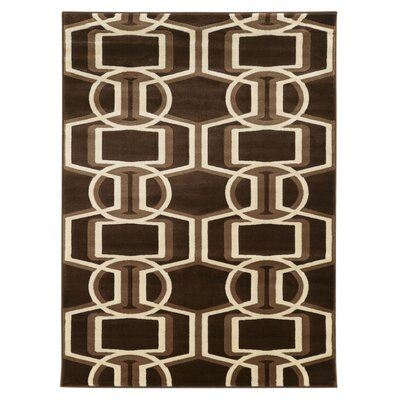 Danby Chocolate/Beige Area Rug Rug Size: 5 x 7