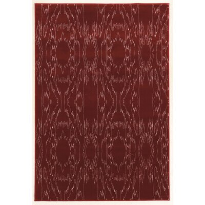 Lucinda Red Area Rug Rug Size: Rectangle 5 x 7