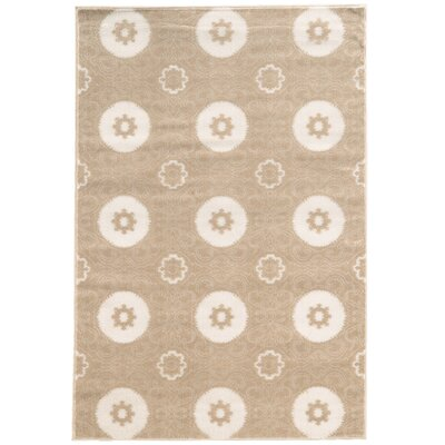 Lucinda Light Beige Area Rug Rug Size: Rectangle 5 x 7