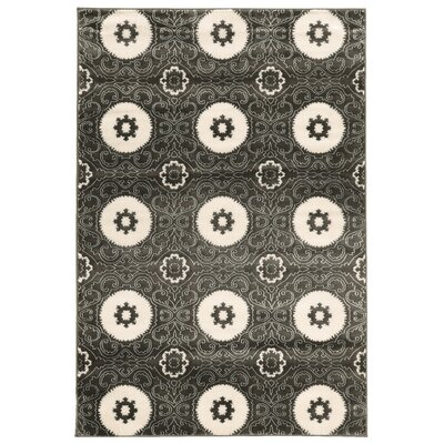 Lucinda Charcoal Area Rug Rug Size: Rectangle 5 x 7