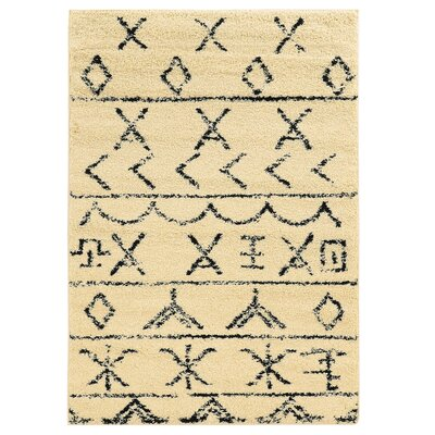 Westland Ivory/Black Area Rug Rug Size: Rectangle 5 x 7