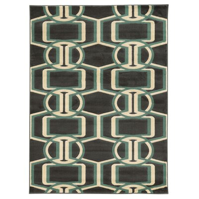 Danby Chocolate/Turquoise Area Rug Rug Size: Rectangle 2 x 3