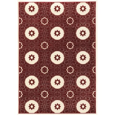 Lucinda Red Area Rug Rug Size: Rectangle 8 x 10