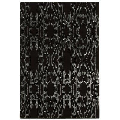Lucinda Black Area Rug Rug Size: 5 x 7