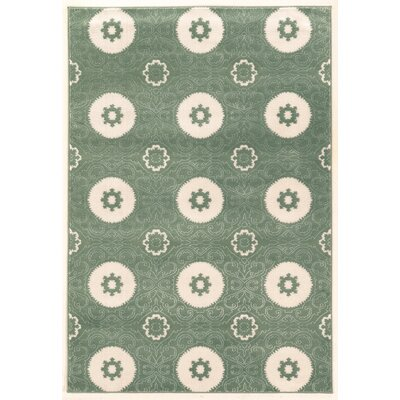 Lucinda Aqua Area Rug Rug Size: Rectangle 8 x 10