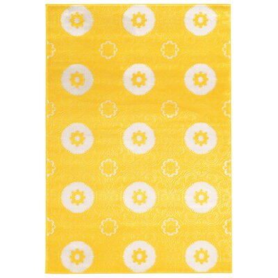Lucinda Yellow Area Rug Rug Size: Rectangle 8 x 10