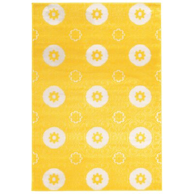 Lucinda Yellow Area Rug Rug Size: Rectangle 2 x 3