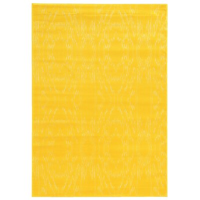 Lucinda Yellow Area Rug Rug Size: Rectangle 5 x 7