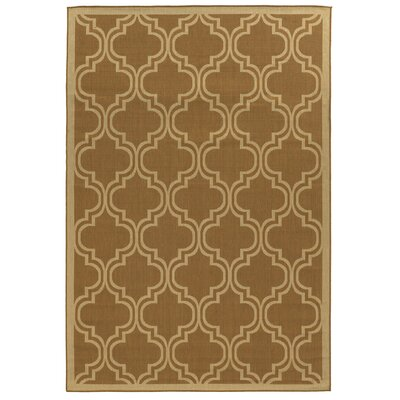 Beatrice Beige/Brown Indoor/Outdoor Area Rug