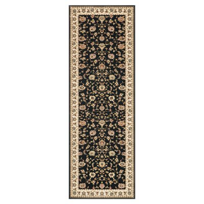 Wentworth Black/Ivory Area Rug Rug Size: Runner 28 x 77