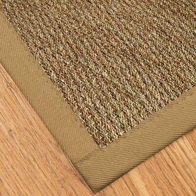 Bayridge Hand-Woven Khaki Area Rug Rug Size: 5 x 8