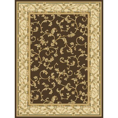 Dexter Brown Area Rug Rug Size: 53 x 77