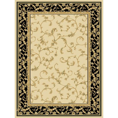 Dexter Wheat/Black Area Rug Rug Size: 910 x 1210