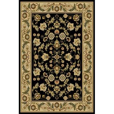 Zebit Black Area Rug Rug Size: 710 x 910