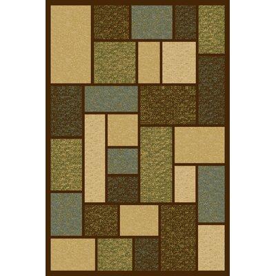Ellen Green/Beige Area Rug Rug Size: 5 x 76