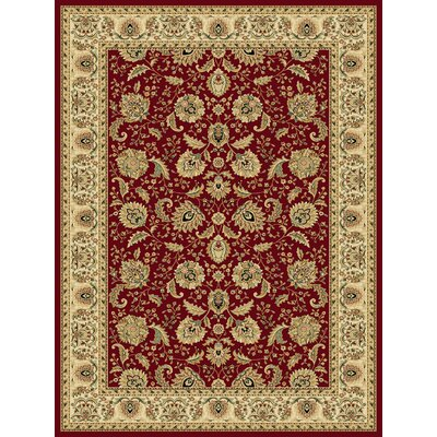 Dexter Red Area Rug Rug Size: 33 x 53