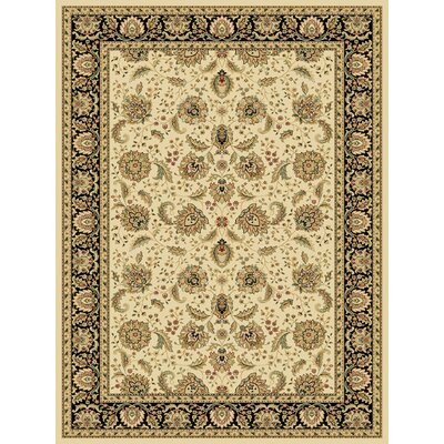 Dexter Wheat/Black Area Rug Rug Size: 53 x 77