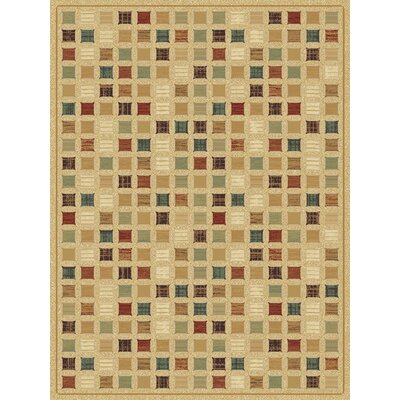 Sanderson Wheat Area Rug Rug Size: 5'3
