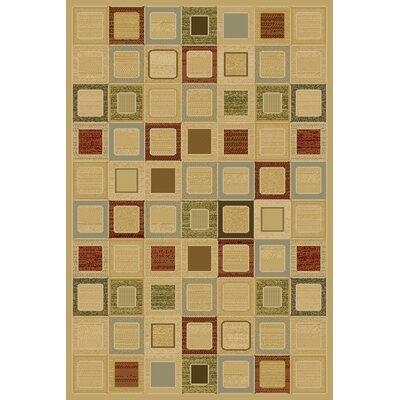 Ellen Beige Area Rug Rug Size: 710 x 910