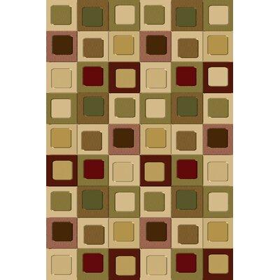 Ellen Green/Beige Area Rug Rug Size: 18 x 3
