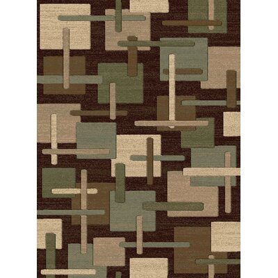 Crawford Brown/Green Area Rug Rug Size: 5 x 76