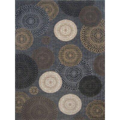 Denver Hand-Woven Gray Area Rug Rug Size: 5 x 77