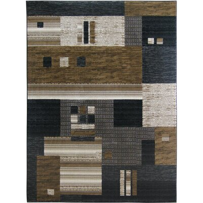 Denver Black/Gray Area Rug Rug Size: 2 x 3