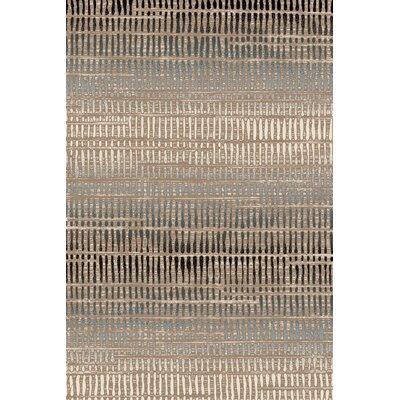Denver Hand-Woven Brown/Tan Area Rug Rug Size: 5 x 77