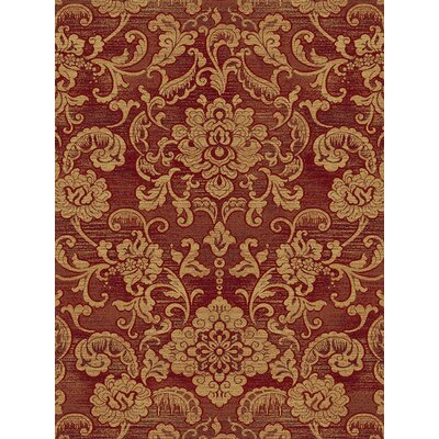 Sanderson Red Area Rug Rug Size: Runner 23 x 77