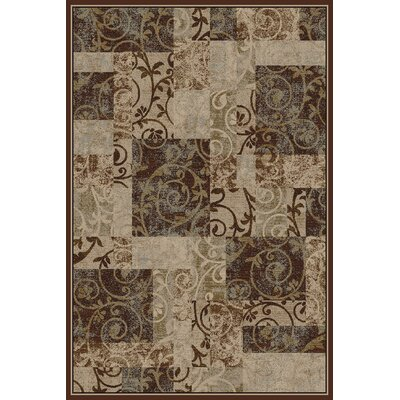 Ellen Brown/Tan Area Rug Rug Size: 710 x 910
