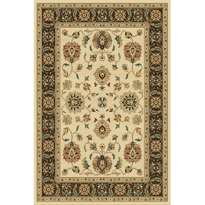 Clarkson Wheat/Brown Area Rug Rug Size: 5 x 76